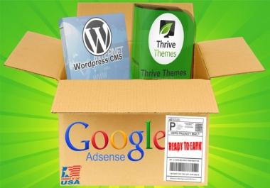 Design Complete Google Adsense Niche Website