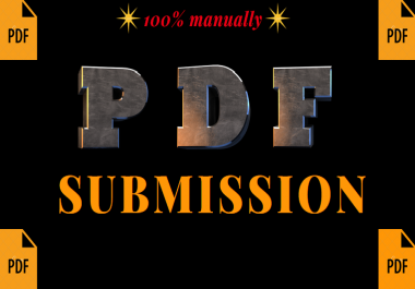 submit a PDF in 30 best  document sharing sites manually with guaranteed service