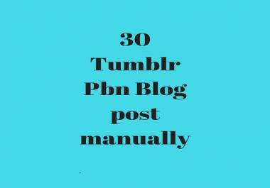do permanent 30 tumblr pbn blog posts manually