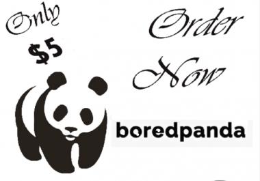 Write and publish  guest post  On  Boredpanda Da 80+
