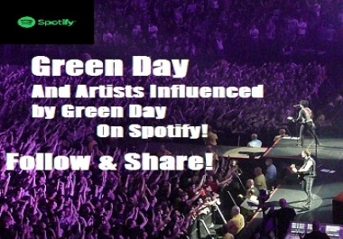 Add Your Spotify Track To Our Green Day Artists Influenced By Green Day Playlist!