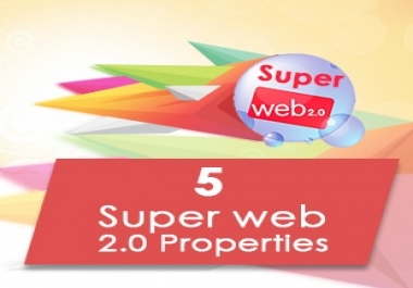 5 high pr web 20 properties manually we use high quality Unique Articles (100% on CopyScape)