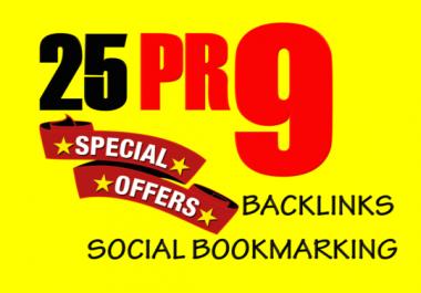 Manually TOP 25+ PR10 to PR5 Safe High Alexa Rank Dofollow Bookmark improve your SERP result