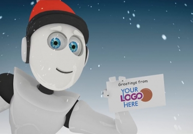 video Holidays Greeting Card Christmas New Year Robot technology