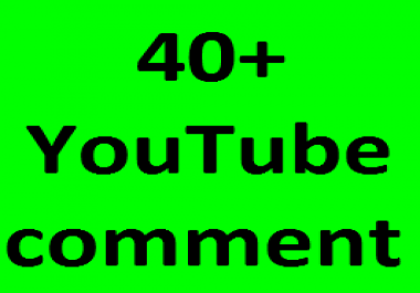 Real 35+YouTube Custom Comments 1-2 hours in complete