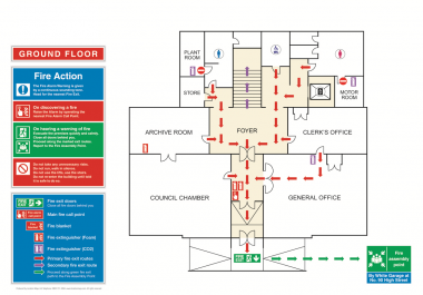 Evacuation Safety Floor Plan