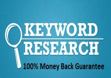 I Provide You The Best Low Competition Keywords
