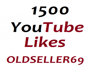 1500+ Real YouTube likes or 101 custom comments very fast completed just