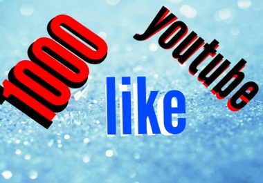 1000 youtube like or 100 youtube custom comment or 200 subscribers