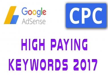 Top 100 Google adsense high CPC keywords list get 1000$ per click