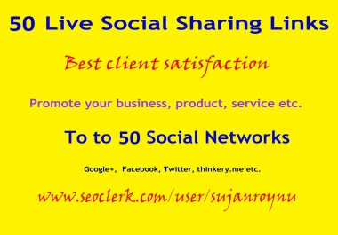 Fully Manual 50 Live Social Bookmarking Links Within 2 Days