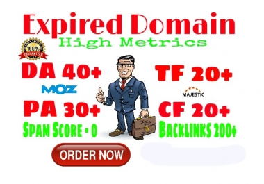 Seo Friendly Expired Domain With High Metrics