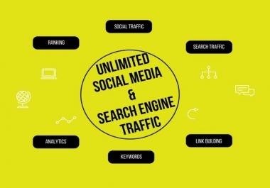 Unlimited Social Media & Search Engine Traffic 30 days