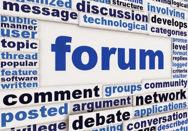 Create 40+ Forum Profile Backlinks 0-90 DA mixed and ping all