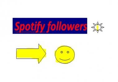 add manually 1000 Spotify Followers only for Spotify Followers marketing buyer