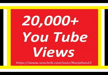 Happy New Year Offer  Add/Safe 20,000+YouTube Views 12-24 Hours in complete