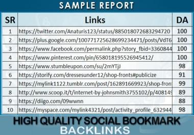 manually create 60 pr10 social bookmarks backlinks