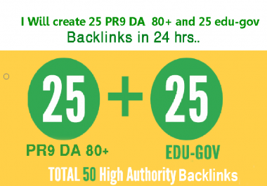 Give you 25 edu and gov backlink high quality