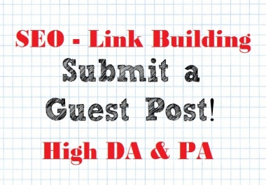 Publish 2 Guest Posts on HEALTH Niche (DA41 & DA36) Link Building SEO
