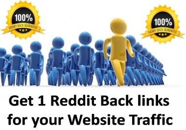Get 1 Reddit Backlinks for your Link
