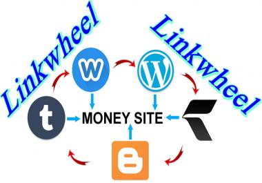 Do SEO linkwheel pyramid backlink to website