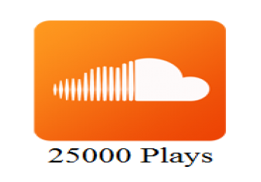 Get 25000 / 25k High Quality SoundCloud Plays in 24h for $5