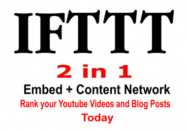 Create A Single IFTTT Network For Both Youtube And Blog