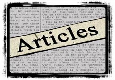 provide 5 high quality Unique articles
