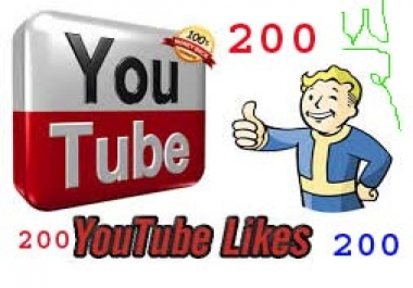 Give you High Quality 200 Youtube Likes