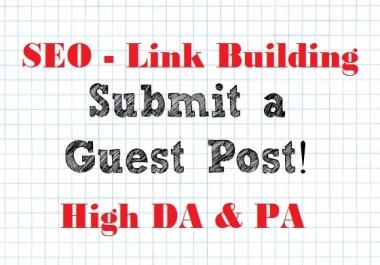 Guest Post on EDUCATION Niche DA86-89 SEO Link Building