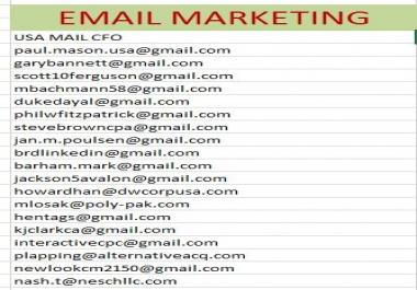 Email marketing ,gmail,yahoo.hot mail 1k