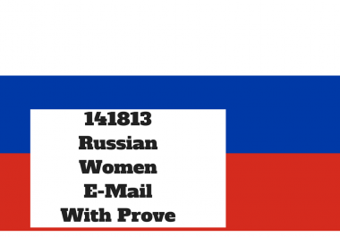 Get you 141813 Russian Women Email list most of them on facebook for $5
