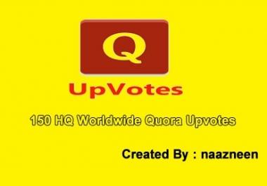 150+ HQ Worldwide Quora Upvotes in 24 hours