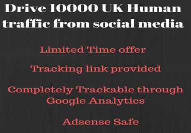 Send 10000+ real human traffic from United Kingdom