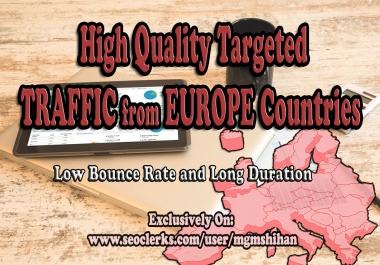 Europe Country Targeted TRAFFIC from Social Media Sources
