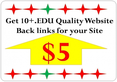 Get 15+.Edu Quality Website  Back links for your Site