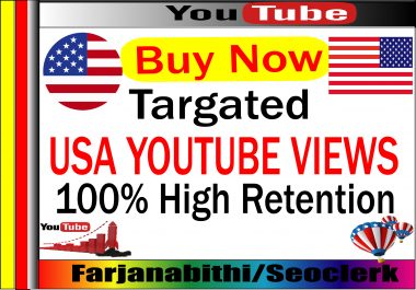 1000-3000 + USA High Retention Youtube Video Views Supper Fast Delivery