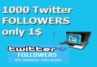 1000 Twitter F0ll0wers or 1k Re tweet or Fav0urite