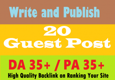Christmas Offer- I will Write & Publish guest post on 20 your Niche Relevant DA 35+ sites