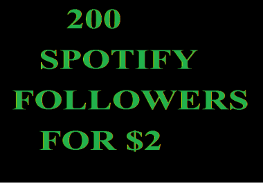 200 Sp0tify PROFILE FOLLOWERS OR Playlist Followers within 1-hours