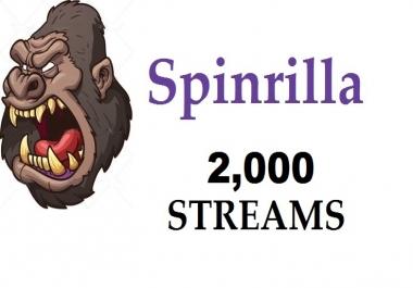2,000 streams + 5,000 views for Mixtape spinrilla