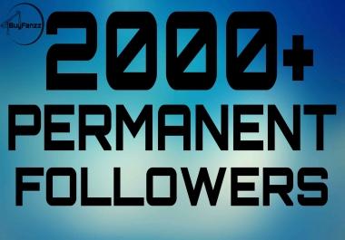 Get Super Instant 2000+ Permanent Followers