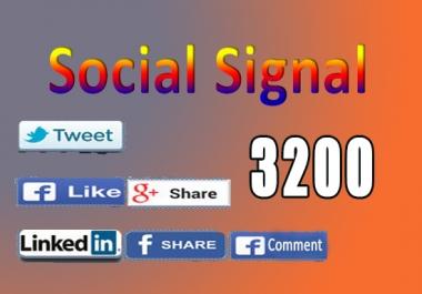 3200 Real SEO Based Social Signals Including PR9-PR10 Google+, Linkedin, Facebook and Twitter