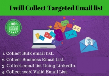collect targeted 12,000 email list