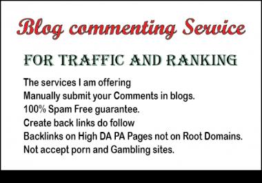 I provide you niche relevant high PR dofollow blog comment