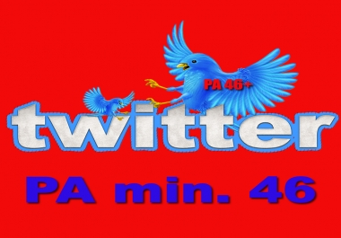 Expired Twitter Account High PA 46+ Profile