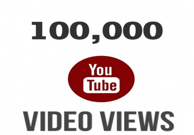 Boost your youtube video views approx 100k with 30 likes