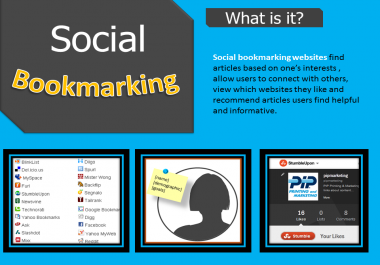 Manually Submit your site 25 High Authority & High PR Social Bookmarking