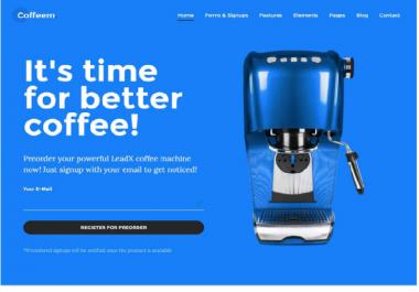 create WordPress landing page mobile friendly.