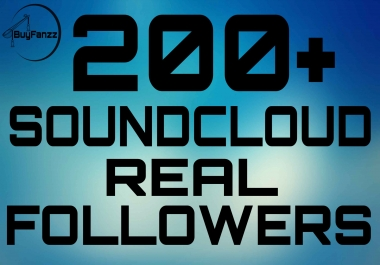 Instant Start 200+ SoundCloud Real Followers